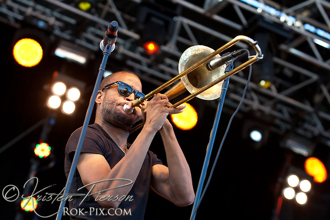 Trombone Shorty and Orleans Avenue perform at the Life is Good Festival on September 23, 2012 in Canton, Massachusetts © Kristen Pierson