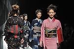 March 19, 2013, Tokyo, Japan - JOTARO SAITO - Autumn/Winter 2013-14 - Tokyo Collection - Runway. (Photo by Kjeld Duits/AFLO)