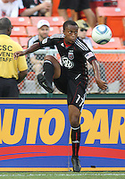Boyzzz Khumalo #17 of D.C. United during an international friendly match against Portsmouth FC at RFK Stadium on July 24 2010, in Washington D.C. United won 4-0.