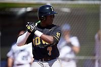 Iowa Hawkeyes right fielder Devin Pickett (7) at bat during a game against the Dartmouth Big Green on February 27, 2016 at South Charlotte Regional Park in Punta Gorda, Florida.  Iowa defeated Dartmouth 4-1.  (Mike Janes/Four Seam Images)