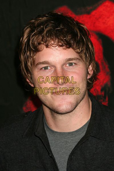 "CHRIS PRATT.Xbox 360 ""Gears of War"" Launch Party at Hollywood Forever Cemetery, Hollywood, California, USA..October 25th, 2006.Ref: ADM/BP.headshot portrait .www.capitalpictures.com.sales@capitalpictures.com.©Byron Purvis/AdMedia/Capital Pictures."