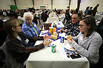 Guests, from left, Rebekah Fillippini, Cheryl Brown, Hank McIntosh and Amberlyn McIntosh enjoy the annual Western Nevada College Foundation Scholarship Appreciation &amp; Recognition Celebration in Carson City, Nev., on Friday, March 9, 2018. <br /> Photo by Cathleen Allison/Nevada Momentum