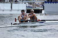 THE SILVER GOBLETS AND NICKALLS' CHALLENGE CUP<br /> M.R. Mitchell &amp; K.J. Cahill (481)<br /> J.R.N. Palmer &amp; N.M. Pusinelli (483)<br /> <br /> Henley Royal Regatta 2018 - Thursday<br /> <br /> To purchase this photo, or to see pricing information for Prints and Downloads, click the blue 'Add to Cart' button at the top-right of the page.
