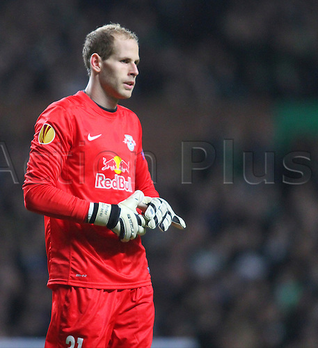27.11.2014. Glasgow, Scotland. Europa League Group Stages Qualifying Round. Celtic versus FC Red Bull Salzburg. Peter Gulacsi of FC Red Bull Salzburg
