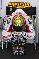 Alvaro Bautista makes a exercises previus start qualifying time