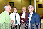 All smiles at the count in Killarney on Saturday night were Cllr Brendan Cronin Ind, Senator Mark Daly FF, Donie Culloty and his brother Cllr John Joe Culloty FF
