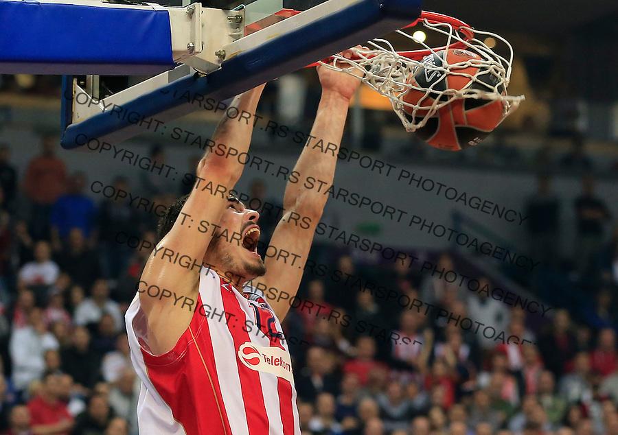 Kosarka Euroleague season 2014-2015<br /> Euroleague<br /> Crvena zvezda v Neptunas Klaipeda<br /> Nikola Kalinic<br /> Beograd, 27.11.2014.<br /> foto: Srdjan Stevanovic/Starsportphoto &copy;