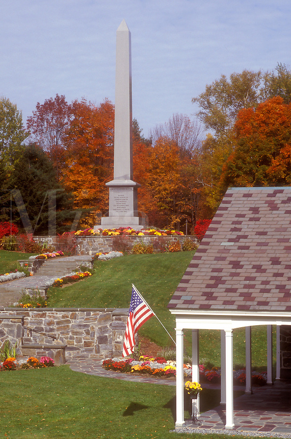 Mormons, fall, Royalton, VT, Vermont, Joseph Smith Memorial, birthplace of the Mormon Prophet, The Church of Jesus Christ of the Latter Day Saints in the autumn.