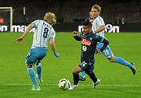 Lorenzo Insigne  durante l'incontro di ritorno della semifinale  Tim Cup tra     Napoli - Lazio allo  Stadio San Paolo  di Napoli ,08 Aprile  2015