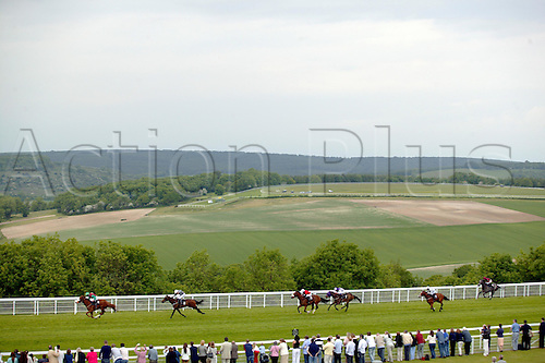 May 26, 2004: Jockey MARTIN DWYER drives GARSTON STAR towards the finish in the Solent Sky - Home of the Spitfire Selling Stakes at Goodwood Photo: Steve Bardens/Action Plus...horse racing 040526 flat venue venues course courses
