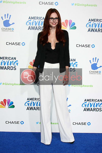 LOS ANGELES - DEC 7:  Alyssa Campanella arrives to the 2012 American Giving Awards at Pasadena Civic Center on December 7, 2012 in Pasadena, CA