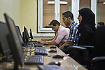 Institute of Industrial Technology - Students - 27 October 2013 - Tripoli - Libya --  Current students at the Institute of Industrial Technology in Tripoli's Injila district, use a computer lab in one of the institute's study rooms - PHOTO: Iason ATHANASIADIS / EUP-IMAGES