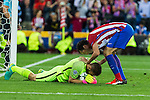 Atletico de Madrid's Jan Oblak during the match of Group stage of Champions League Atletico de Madrid and Bayern Munich at Vicente Calderon Stadium in Madrid. September 28, 2016. (ALTERPHOTOS/Rodrigo Jimenez)