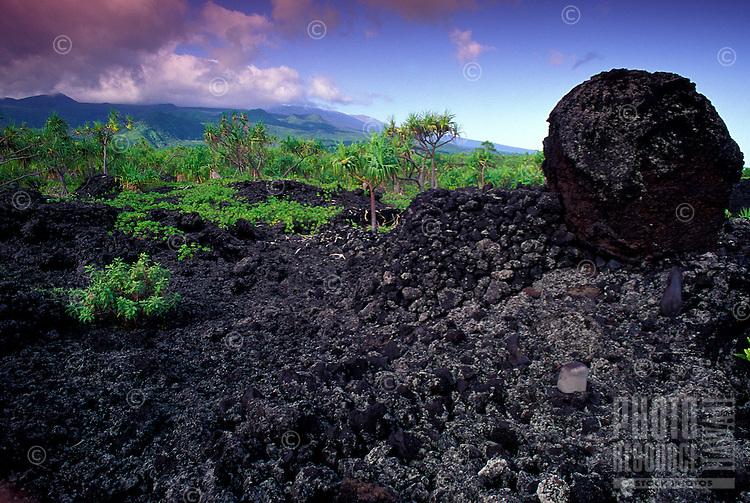 Burials on ancient historic trail with in Waianapanapa, Hana, Maui