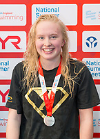 Picture by Allan McKenzie/SWpix.com - 05/08/2017 - Swimming - Swim England National Summer Meet 2017 - Ponds Forge International Sports Centre, Sheffield, England - Bethan Thomas takes silver in the womens 16yrs 50m breaststroke.