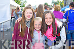 Niamh Murphy, Chloe Quinlan and Amy O'Connor (all Tralee) queuing for the Union J concert at Denny Street on Friday.