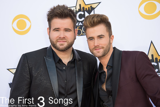 Zach Swon and Colton Swon of The Swon Brothers attend the 50th Academy Of Country Music Awards at AT&T Stadium on April 19, 2015 in Arlington, Texas.