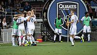 SAN JOSE, CA - SEPTEMBER 25: Philadelphia Union celebrate their goal during a game between Philadelphia Union and San Jose Earthquakes at Avaya Stadium on September 25, 2019 in San Jose, California.