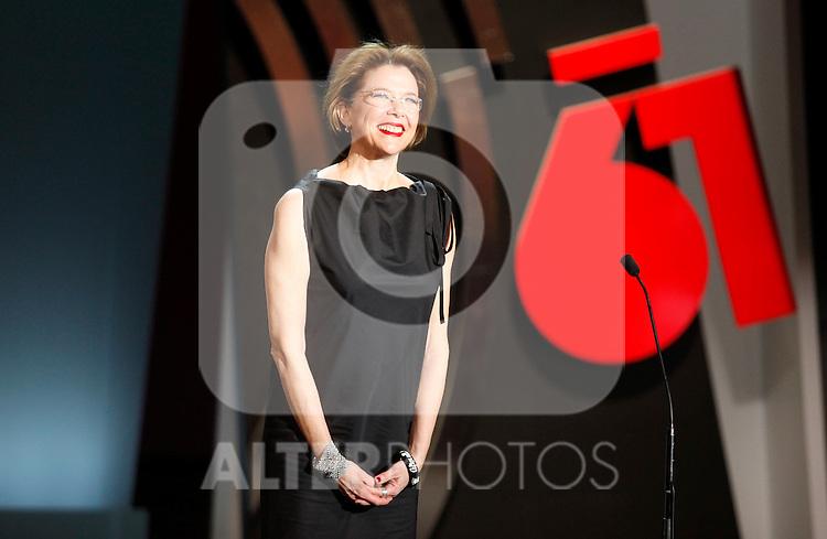 Annette Bening during the 61st San Sebastian International Film Festival's opening ceremony, in San Sebastian, Spain. September 20, 2013. (ALTERPHOTOS/Victor Blanco)
