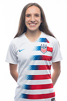 Sarasota, FL - Saturday, October 09, 2018:  Headshot of U-17 USWNT player Ainsley Ahmadian.