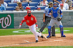 22 June 2008: Washington Nationals' infielder Cristian Guzman at bat against the Texas Rangers at Nationals Park in Washington, DC. The Rangers defeated the Nationals 5-3 in the final game of their 3-game inter-league series...Mandatory Photo Credit: Ed Wolfstein Photo