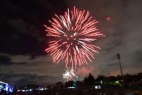 BOGOTÁ - COLOMBIA, 06-09-2019:Con juegos pirotécnicos en el Parque Simón Bolívar se celebraron los 481 de fundación de la capital./<br /> With the pyrotechnic games in the Simón Bolívar Park, the 481 founding of the capital was celebrated . Photo: VizzorImage / Felipe Caicedo / Satff