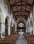 Interior of the priory church at Edington, Wiltshire, England, UK