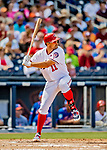 7 March 2019: Washington Nationals first baseman Ryan Zimmerman at bat during a Spring Training Game against the New York Mets at the Ballpark of the Palm Beaches in West Palm Beach, Florida. The Nationals defeated the visiting Mets 6-4 in Grapefruit League, pre-season play. Mandatory Credit: Ed Wolfstein Photo *** RAW (NEF) Image File Available ***
