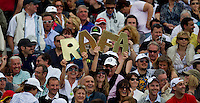 Rafa fans watching Rafael NADAL (ESP) against David FERRER (ESP) in the semi-finals. Rafael Nadal beat David Ferrer 6-2 6-3..International Tennis - 2010 ATP World Tour - Masters 1000 - Monte-Carlo Rolex Masters - Monte-Carlo Country Club - Alpes-Maritimes - France..© AMN Images, Barry House, 20-22 Worple Road, London, SW19 4DH.Tel -  + 44 20 8947 0100.Fax - + 44 20 8947 0117