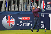 Padraig Harrington (IRL) on the 1st tee during Round 4 of the Sky Sports British Masters at Walton Heath Golf Club in Tadworth, Surrey, England on Sunday 14th Oct 2018.<br />