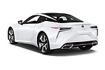Car pictures of rear three quarter view of a 2018 Lexus LC 500 Sport Plus 2 Door Coupe angular rear