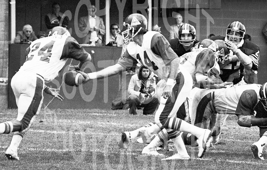 Sonny Wade Montreal Alouettes 1976. Photo Ted Grant