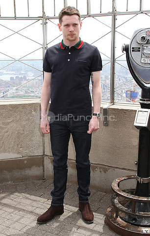 NEW YORK, NY - MAY 9:  Jack O'Connell visits the Empire State Building to promote the movie 'Money Monster' in New York, New York on May 9, 2016. Photo Credit: Rainmaker Photo/MediaPunch
