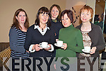 Enjoying the Fossa preschool coffee morning the the Killarney Valley hotel on Friday morning were Susan Randles, Caroline Fleming, Vera Murphy, Eileen O'Leary and Nora Dwyer.