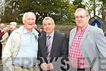 Playwright Tony Guerin Listowel, former Kerry footballer Ogie Moran and former Republic of Ireland soccer manager Eoin Hand at Con Houlihan's funeral in St Stephen and John church Castleisland on Friday......