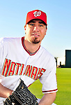 28 February 2010: Washington Nationals relief pitcher Ryan Speier poses for his Spring Training photo at Space Coast Stadium in Viera, Florida. Mandatory Credit: Ed Wolfstein Photo