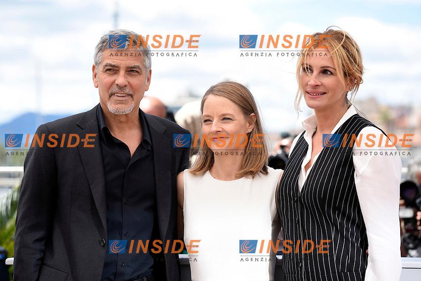 George Clooney - Jodie Foster -  Julia Roberts<br /> Festival di Cannes 2016 <br /> Foto Panoramic / Insidefoto