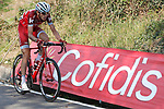 Ilnur Zakarin (RUS) Katusha Alpecin in action during Stage 19 of the 2017 La Vuelta, running 149.7km from Caso. Parque Natural de Redes to Gij&oacute;n, Spain. 8th September 2017.<br /> Picture: Unipublic/&copy;photogomezsport | Cyclefile<br /> <br /> <br /> All photos usage must carry mandatory copyright credit (&copy; Cyclefile | Unipublic/&copy;photogomezsport)