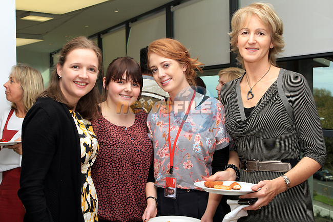 Tara Julian, Ciara Lynch, Gemma Maguire and Ann Fanning at the Official Opening of Coca Cola Global Business Services Finance Operation for Europe and Eurasia in Southgate Shopping Centre 28/10/11..(Photo credit should read Jenny Matthews www.newsfile.ie)....This Picture has been sent you under the conditions enclosed by:.Newsfile Ltd..The Studio,.Millmount Abbey,.Drogheda,.Co Meath..Ireland..Tel: +353(0)41-9871240.Fax: +353(0)41-9871260.GSM: +353(0)86-2500958.email: pictures@newsfile.ie.www.newsfile.ie.