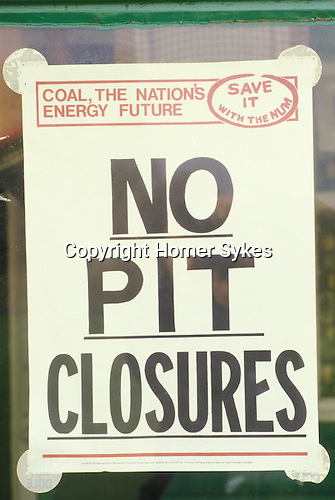 Miners strike 1984. Shirebrook Colliery Derbyshire. Strilking Miners local strike office.