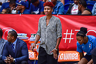 Washington, DC - August 31, 2018: Atlanta Dream All-Star Angel McCoughtry on the sideline during semi-finals playoff game between Atlanta Dream and Wasington Mystics at the Charles Smith Center at George Washington University in Washington, DC. (Photo by Phil Peters/Media Images International)