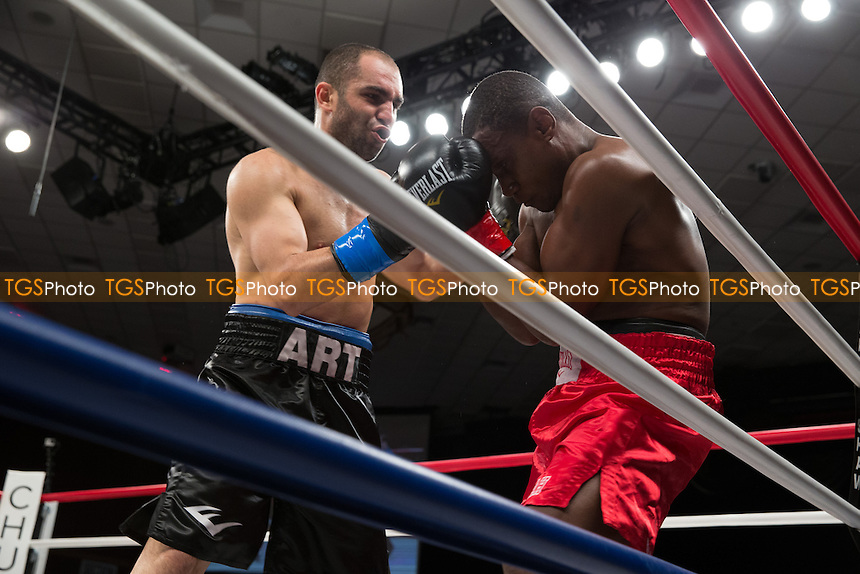 Art Hovhannisyan defeated Daniel Attah in a Central Coast Championship Night boxing contest at the Chumash Casino Resort promoted by Gary Shaw Productions - 16/08/13 - MANDATORY CREDIT: Dwight MCCann/TGSPHOTO - Self billing applies where appropriate - 0845 094 6026 - contact@tgsphoto.co.uk - NO UNPAID USE