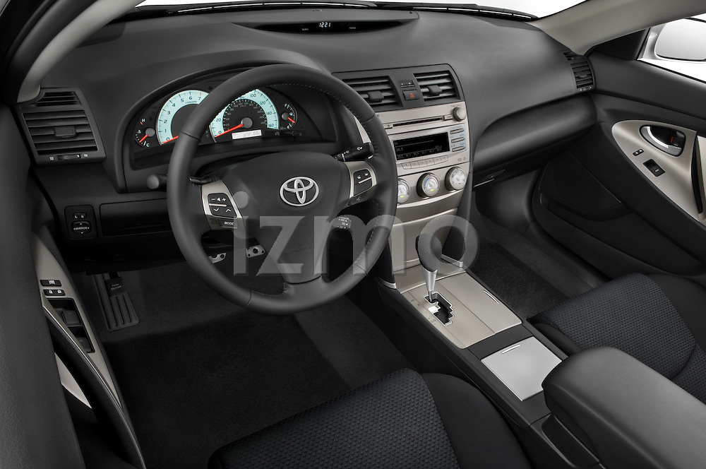 High angle dashboard view of a 2010 Toyota Camry SE V6