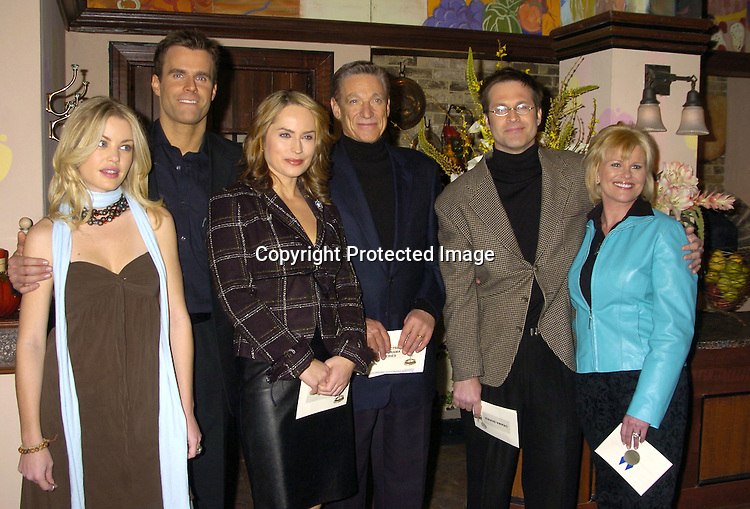 Bree Williamson, Cameron Mathison, Crystal Chappell,  Maury Povich, Jon Hensley and Judi Evans ..at The Announcements of the 32nd Annual Daytime Emmy ..Award's Nominations on March 2, 2005 at Guiding Light Stages in New York City...Photo by Robin Platzer, Twin Images