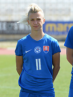 20180307 - LARNACA , CYPRUS :  Slovakian Patricia Hmirova pictured during a women's soccer game between  Slovakia and the Czech Republic , on Wednesday 7 March 2018 at the GSZ Stadium in Larnaca , Cyprus . This is the final game in a decision for 9 th or 10 th place of the Cyprus Womens Cup , a prestigious women soccer tournament as a preparation on the World Cup 2019 qualification duels. PHOTO SPORTPIX.BE | DAVID CATRY