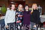 Ash McGuire, Orla Winters, Rebekah Wall and Jennifer Burke relaxing and enjoying the evening in Benners Hotel on Friday night.