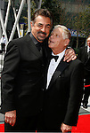 LOS ANGELES, CA. - September 13: Actors Joe Mantegna and Actor Robert Morse arrive at the 60th Primetime Creative Arts Emmy Awards held at Nokia Theatre on September 13, 2008 in Los Angeles, California.