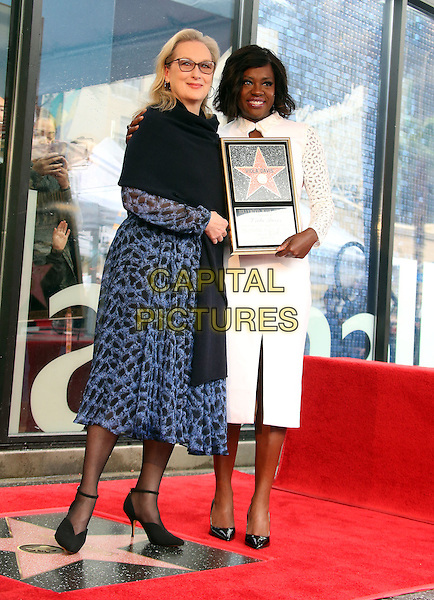 05 January 2017 - Hollywood, California - Meryl Streep, Viola Davis. Viola Davis Honored With Star On The Hollywood Walk Of Fame. <br /> CAP/ADM/FS<br /> &copy;FS/ADM/Capital Pictures