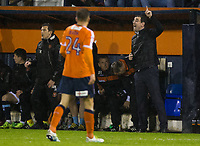 Blackpool manager Gary Bowyer shouts instructions to his team from the dug-out<br /> <br /> Photographer Craig Mercer/CameraSport<br /> <br /> The EFL Sky Bet League Two Play-Off Semi Final Second Leg - Luton Town v Blackpool - Thursday 18th May 2017 - Kenilworth Road - Luton<br /> <br /> World Copyright &copy; 2017 CameraSport. All rights reserved. 43 Linden Ave. Countesthorpe. Leicester. England. LE8 5PG - Tel: +44 (0) 116 277 4147 - admin@camerasport.com - www.camerasport.com