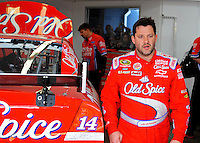 Feb. 28, 2009; Las Vegas, NV, USA; NASCAR Sprint Cup Series driver Tony Stewart during practice for the Shelby 427 at Las Vegas Motor Speedway. Mandatory Credit: Mark J. Rebilas-